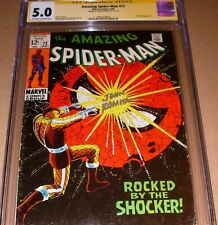 Amazing Spider-Man #72 CGC SS SIGNED John Romita Sr Marvel 1969 Shocker cover