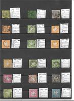 Württemberg 1851 - 1865, Einzelmarken aus Michelnrn.: aus 1 - 34 o, gestempelt o