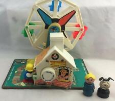 Vintage Fisher Price Little People Music Box Ferris Wheel - 969 - Works!