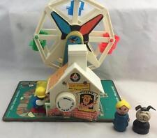 Vintage Fisher Price Little People Music Box Ferris Wheel - 969 - Works!