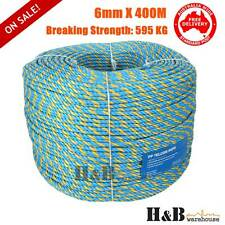 Telstra Rope 6mm x 400M Parramatta Coils Breaking Strength Tested 595KG T0528