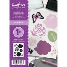 In Bloom - Crafters Companion A6 unmounted rubber stamp