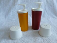 Vintage Tupperware 1329 Ketchup And Mustard Dispenser Container Pumps VGUC