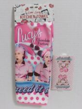 I LOVE LUCY KITCHEN TOWEL CHOCOLATE FACTORY DESIGN