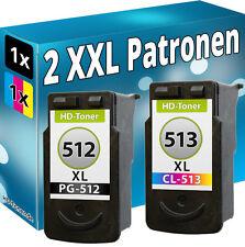 2x XL DRUCKER PATRONE PG512 CL513 für CANON PIXMA MX340 MX350 MX410 MX360 MX420