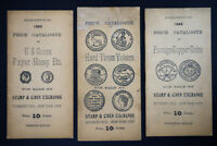 US Lot of 3 Old Coin Catalogues 1922