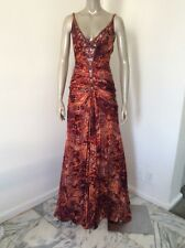 Zuhair Murad Evening Gown Size 40 Sexy Train Silk Beaded Red Animal Print Dress