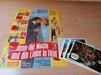 Original Kinoposter + 20 AHF :..denn die Musik und die Liebe in Tirol .Z 0-1
