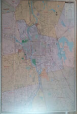 Greater Manchester Nh Laminated Wall Map (K)