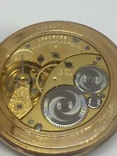 Elgin Pocket Watch With Beautiful Engraved Movement Runs Great