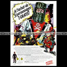 ACTION MAN ACTION FORCE Baron Ironblood Black Major 1984 Pub / Publicité Ad #A31