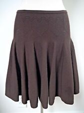 ALAIA Paris brown wool blend knit skater skirt size small