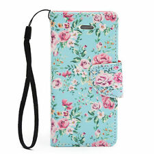 Patterned Wallet Cases with Strap for Apple Mobile Phones