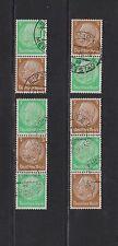 Briefmarken-Zusammendrucke aus dem deutschen Reich mit Politiker-Motiv