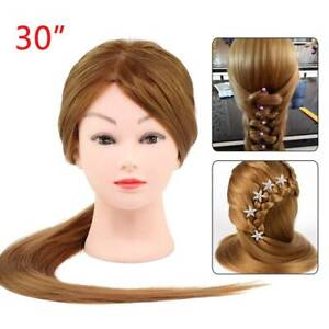 Salon Hair Styling Hairdressing Practice Doll Head Training Mannequin + Clamp UK