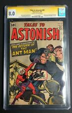 Tales To Astonish #35 1st  Ant-man Cover Signed Stan Lee CGC SS 8.0 1120547003
