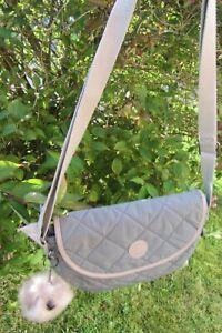 Kipling Amiren Greenish Grey Quilted Crossbody Bag ~ New ~ FREE P&P