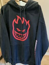 Spitfire Wheels BIGHEAD Hoodie Sweatshirt Skater Black Large