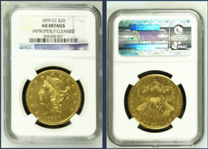 1890-CC Liberty $20 Gold DOUBLE EAGLE >NGC AU >SUPER FAST SHIPPING!!!