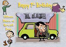 personalised birthday card mr bean daughter son grandson birthday card