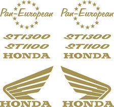 Pan European ST1100, ST1300  Gold Petrol tank fairing stickers    (BB101)