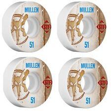 Bones Skate Street Tech Formula V2 Mullen Vintage 83b 51mm 4pk White Wheel Sk...