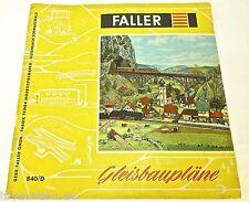 Piani di costruzione di pista FALLER 840/D å