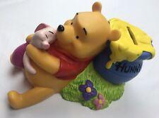 Disney Winnie The Pooh Vinyl Bank, Pooh & Piglet Honey Pot Vintage Collectible