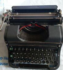 Vintage Underwood Portable Typewriter w/ Carry Case Working Latch, Works