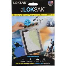 2 Aloksak 6.25x9 Waterproof Airtight Map Pouches LOKSAK ALOKD2-6x9