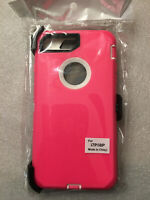 NEW Rugged Defender iPhone 8 Plus iPhone 7 Plus Case w/ Holster Belt CLIP PINK