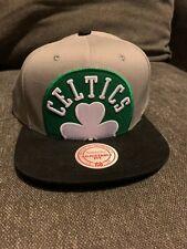 Boston Celtics Mitchell and Ness Snapback Hat Grey