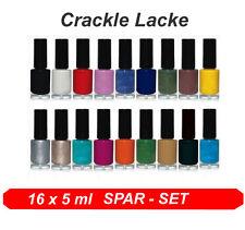 Crackling Farblacke  Nagellack Cracklelack   * Crackle Lacke 16 x 5ml SPAR SET *