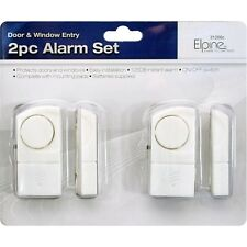 2PC WINDOW DOOR ENTRY ALARM SET HOME SHED SECURITY WIRELESS THEFT BURGLAR NEW