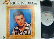Rick Nelson~Analogue Euro Reissue LP Rick is 21 NM Teen Idol Rock Pop