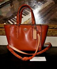 Coach F20895 Terra Cotta Python Leather Satchel Crossbody NWOT