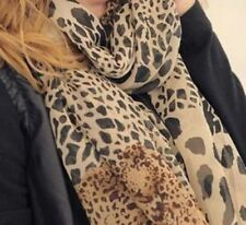 Animal Print Chiffon Scarves & Wraps for Women
