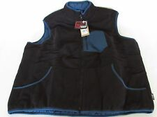 Men's Boysen Reversible Vest By WOOLRICH Black/Blue Insulated Fleece size XL