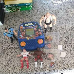 WWF Wrestling Superstars Tiger Electronic LCD Video Game Vintage 1991 & extras