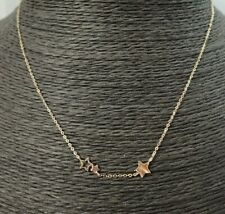 9ct Collar De Estrellas De Oro-Ajustable en Caja