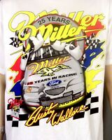 vtg 90s NWOT Chase Rusty Wallace NASCAR Miller Racing T-Shirt All Over Print XL