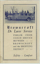 RARE Advertising Brochure - Browncroft DeLuxe Bus Service 1925 - Rochester NY