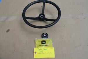 John Deere 318 Steering Wheel with center cap