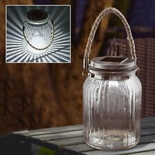 Hanging Glass Jar Solar Powered LED Cornish Light Lantern Table Decoration Lamp 1