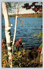Vintage Postcard Elim Lodge Peterborough Ontario Canada Fisherman Lake