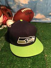 Vintage Seattle Seahawks NFL USA Made New Era SnapBack Hat / Cap Nwot H7
