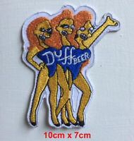 Duff beer cartoon badge clothes Iron on Sew on Embroidered Patch