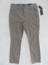 NYDJ Not Your Daughter's Jeans Samantha Slim Strght-Vintage Taupe-Size 16- NWT