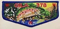 GILA OA LODGE 378 BSA YUCCA COUNCIL TEXAS TX PATCH FISH ZODIAC TROUT FLAP BEAUTY