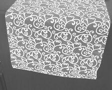 5 m Tischband Organza Filigree transparent weiß 36 cm breit Hochzeit 1,39 €/m